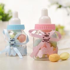 Creativo A Forma di Bottiglia Plastica Barattoli e Bottiglie con Nastri (set di 12) (050168340)