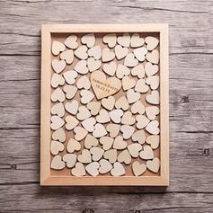 Corazón de gota Madera Libro de visitas (101188100)