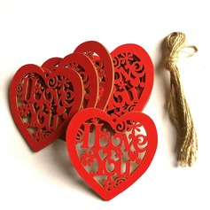A forma di cuore Legno Decorazioni per Matrimonio (131154641)