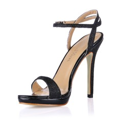 Women's Leatherette Stiletto Heel Sandals Slingbacks shoes (087017922)