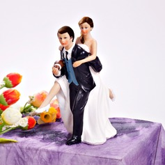 Sports Couple Resin Wedding Cake Topper (122036181)