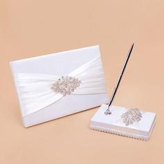 Elegante Strass/Arco Guestbook & Set di penne (101059840)