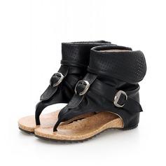 Keinonahasta Matalakorkoiset Heel Sandaalit jossa Solki kengät (087062827)