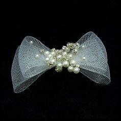 Fashion Imitation Pearls/Tulle Combs & Barrettes (042025478)