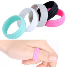 Modern Silikone Fashionable Resin Fashion Rings Gaver (129140555)