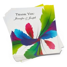 Personalized Feather Paper Thank You Cards (Set of 50) (114032186)