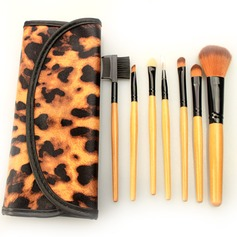 7Pcs Fabulous Makeup Brush Set With Leopard Bag #CB715 (046063287)