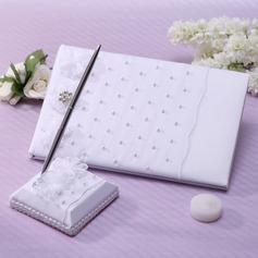 Stile classico Di faux perla/Strass Guestbook & Set di penne (101037362)