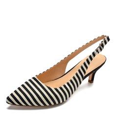 Donna Tessuto Tacco a spillo Sandalo Stiletto scarpe (085175382)