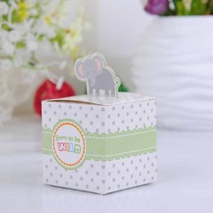 Lovely Elephant Cubic Favor Boxes (Set of 12) (050024305)