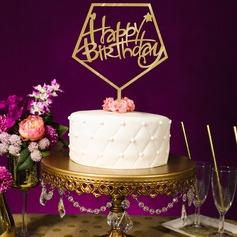 Stile classico/Buon compleanno Acrilico Decorazioni per torte (119154799)