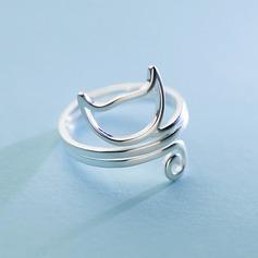 s925 Silver Anelli di modo delle donne uniche del gatto Regali (129140485)