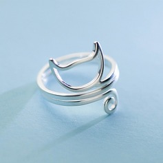 s925 Silver Unik Kat Dame Fashion Rings Gaver (129140485)