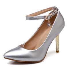 Donna Similpelle Tacco a spillo Stiletto Punta chiusa con Fibbia scarpe (085168421)