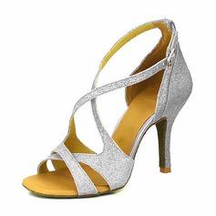 Donna Glitter scintillanti Tacchi Sandalo Stiletto Latino Scarpe da ballo (053095767)