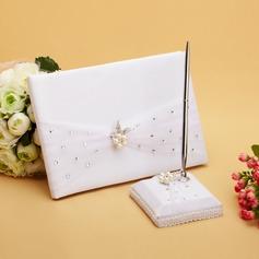 Elegante Di faux perla/Strass Guestbook & Set di penne (101038628)