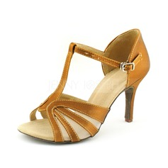 Donna Raso Tacchi Sandalo Latino con Con Listino a T Scarpe da ballo (053016446)