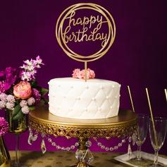 Stile classico/Buon compleanno Acrilico Decorazioni per torte (119154797)