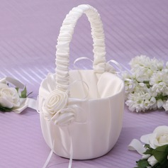 Lovely Flower Basket in Satin With Ribbons (102037351)
