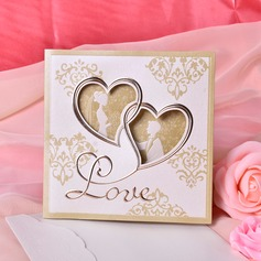 Heart Stil Tri-Fold Invitation Cards (Sett Av 50) (114033287)