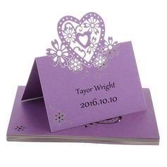 Nice Heart Shaped Pearl Paper Place Cards (set of 12) (131037431)
