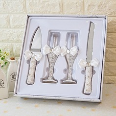 Simple Design/Elegant/Classic Toasting Flutes With Ribbon Bow (126199802)