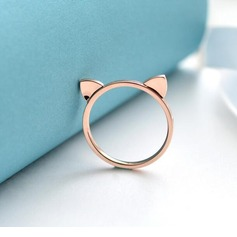 Legering Unique Alloy Cat Ear Women's Fashion Rings Gaver (129140576)