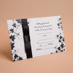 Classic Style Flat Card Invitation Cards With Ribbons (Set of 10) (114030737)