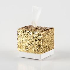 Créatif/Style Classique Cubique papier/paillette Boîtes cadeaux (Lot de 12) (050173155)