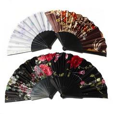 Diseño Floral Plástico/Tejido Ventilador de la mano (Juego de 4) (051055112)