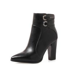 Frauen PU Stämmiger Absatz Absatzschuhe Stiefel mit Reißverschluss Andere Schuhe (088136933)