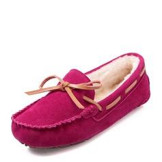 De mujer Ante Tacón plano Planos Cerrados con Bowknot zapatos (086149308)