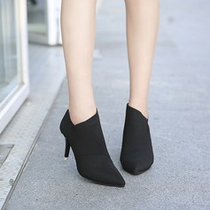 Frauen Leinwand Stöckel Absatz Stiefel Stiefelette mit Andere Schuhe (088137082)