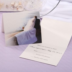 Personalized Bride & Groom Style Top Fold Response Cards (Set of 20) (114063890)