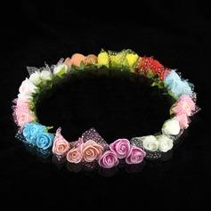 mooie papieren bloem bruiloft bloem meisje krans (042005772)