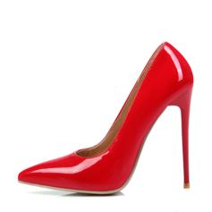 Donna Pelle verniciata Tacco a spillo Stiletto scarpe (085095662)