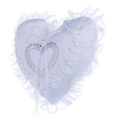 En forma de corazón Cojín en Tela con La perla de faux/Encaje (103169044)