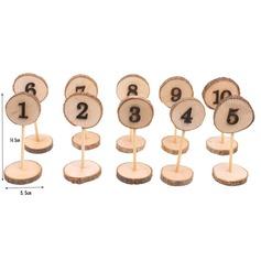Style Classique En bois Cartes porte-nom (Lot de 10) (051179168)