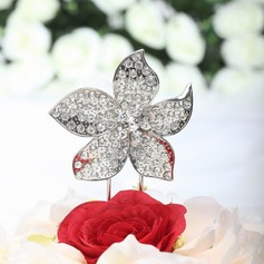 Flower Shaped Chrome Wedding Cake Topper (119030819)