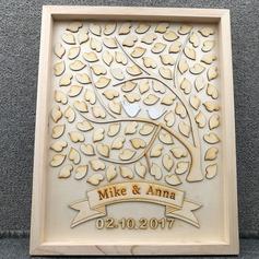Corazón de gota Madera Libro de visitas (101188109)
