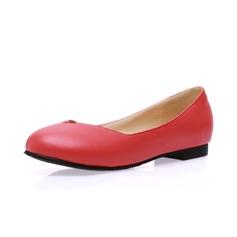 Vrouwen Kunstleer Flat Heel Flats Closed Toe schoenen (086065377)
