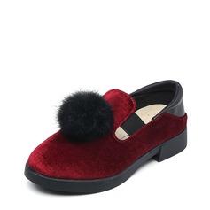 Ragazze Punta rotonda Loafers & Slip-Ons scamosciato Heel piatto Ballerine (207153180)