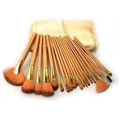 21Pcs Artificial Fibre Professional Makeup Brush Set With Gold Pouch #CB2102(046063291)