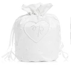 Squisito Raso con Perle imitazione Borsa da sposa (012003973)