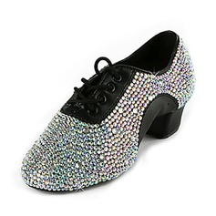 Men's Leatherette Flats Practice With Rhinestone Dance Shoes (053018503)