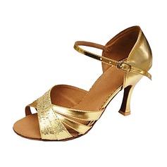 Kvinder Mousserende Glitter Patenteret Læder Hæle sandaler Latin Dansesko (053013146)