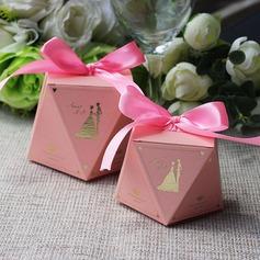 Creativo/Elegante/Diamante progettazione figura del diamante Carta della carta Scatole di Favore con Nastri (set di 12) (050173191)