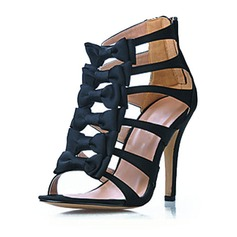 Leatherette Stiletto Heel Sandals shoes (087016543)