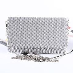 Elegant Satin/Aluminium Handtaschen/Schminktäschchen (012175417)