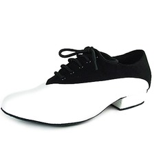 Men's Real Leather Velvet Flats Modern Ballroom Dance Shoes (053013139)